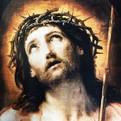 Jesus looks up